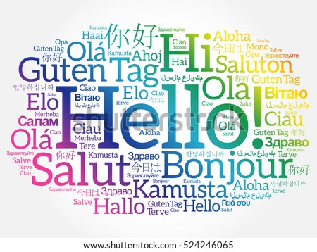 Hello world download free vector art stock graphics images hello word cloud in different languages of the world background concept m4hsunfo