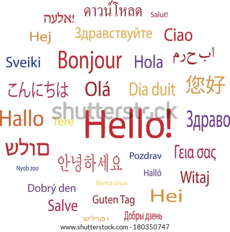 hello word in languages of the