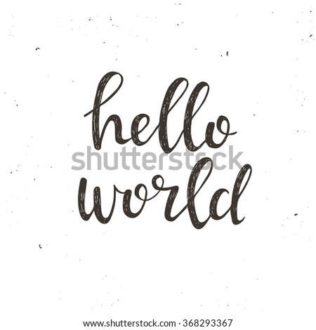 hello world conceptual