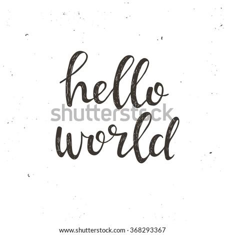 hello world conceptual
