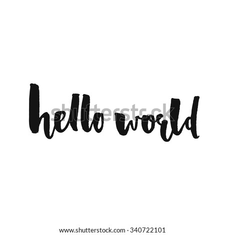 hello world modern calligraphy
