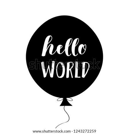hello world  nursery poster in