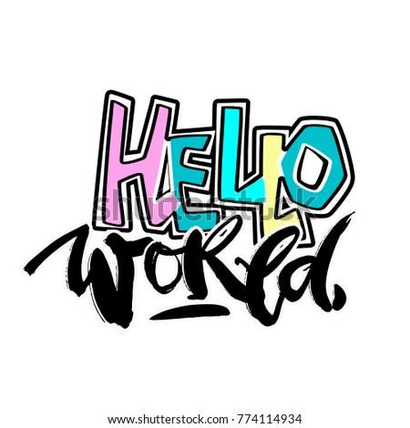 hello world  seamless hand