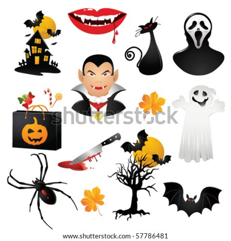 helloween icons. Vector