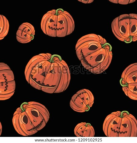 helloween pattern with pumpkings