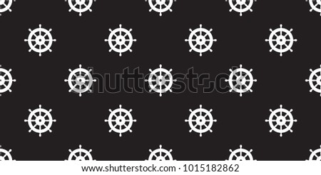 helm seamless pattern anchor vector maritime nautical sea ocean boat isolated wallpaper background black