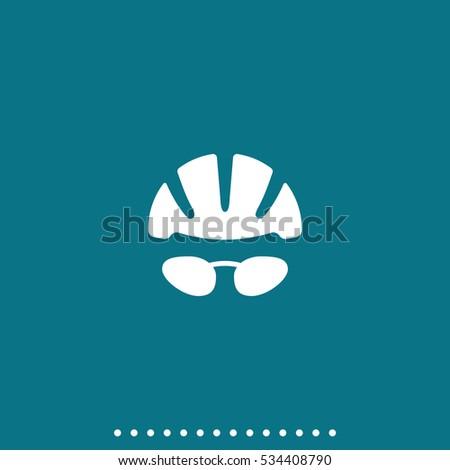 helmet and glasses icon