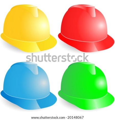 Helmet, Firefighters helmet, hardhat - stock vector