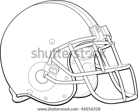 Football Helmet Outline Helmet Football Team Outline