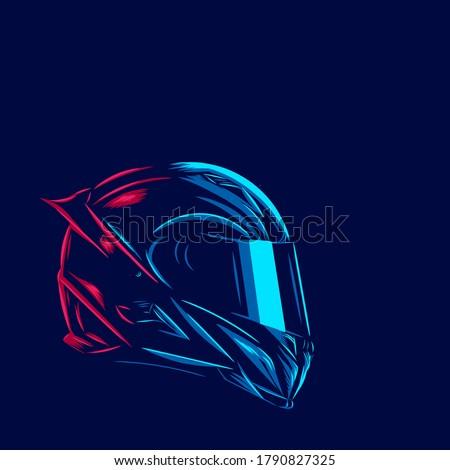 helmet fullface line pop art