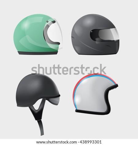 helmet head isolate design set