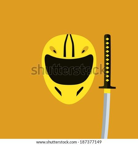 helmet in kill bill style