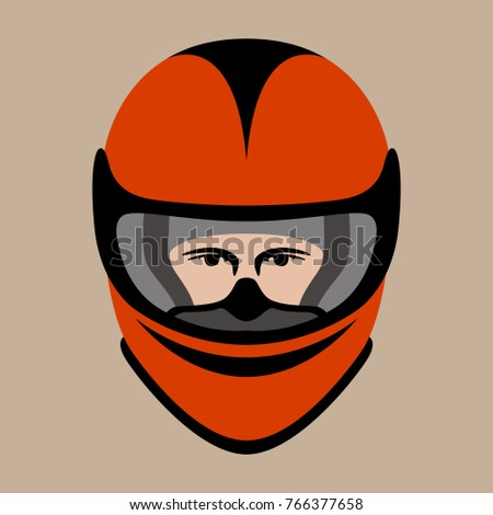 helmet motorcycle face vector