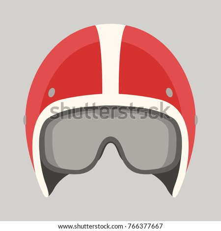 helmet motorcycle vector illustration flat style front side