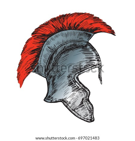 helmet of the roman legionnaire ...