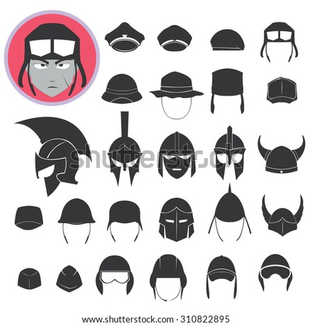 helmet soldier vector icon