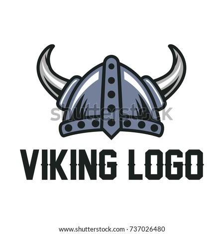Helmet Viking Logo Template