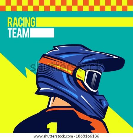 helmets motocross back shot of