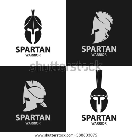 helmets spartan warriors dark