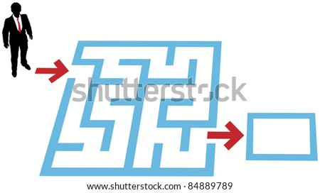 Help a business person find a way through a maze problem to a solution