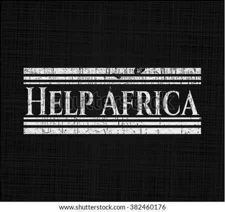 Help Africa chalk emblem