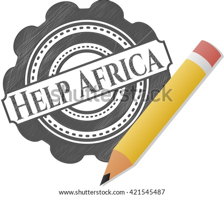 Help Africa drawn in pencil