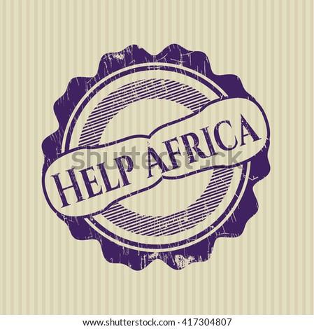 Help Africa grunge seal