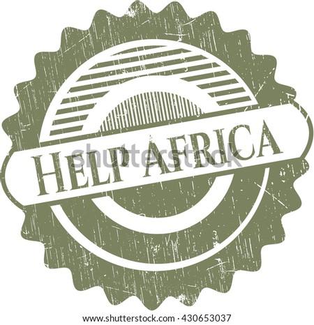 Help Africa grunge stamp