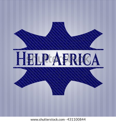 Help Africa jean or denim emblem or badge background