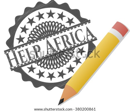Help Africa pencil effect