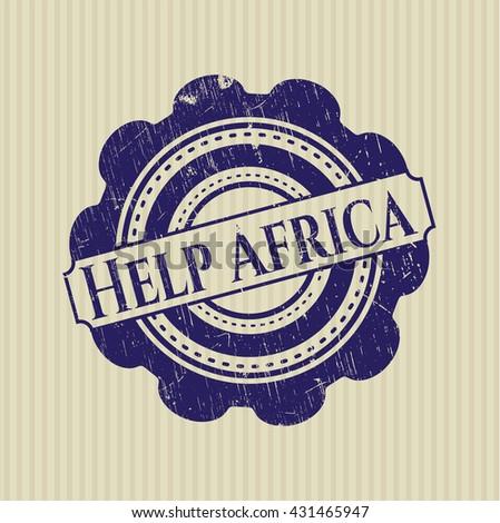 Help Africa rubber grunge seal