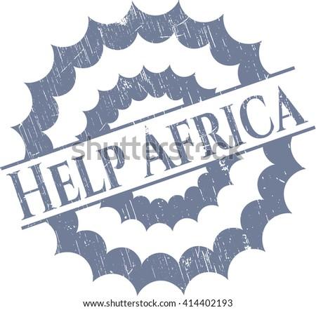 Help Africa rubber grunge texture stamp