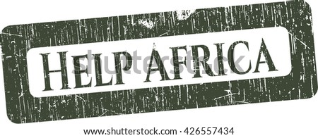 Help Africa rubber seal with grunge texture