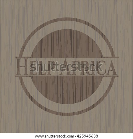 Help Africa wooden emblem