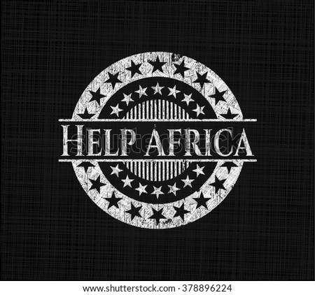 Help Africa written with chalkboard texture