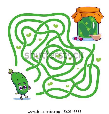help cute cucumber find path to