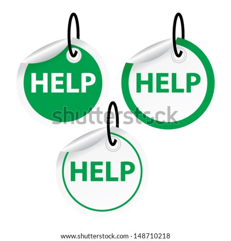help  green tags vector