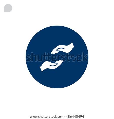 Help hand icon Flat. #486440494