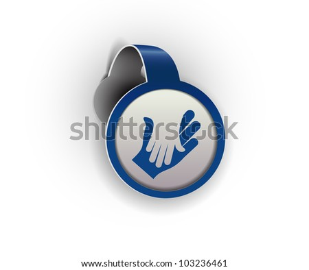help hanging sticker icon, vector - stock vector