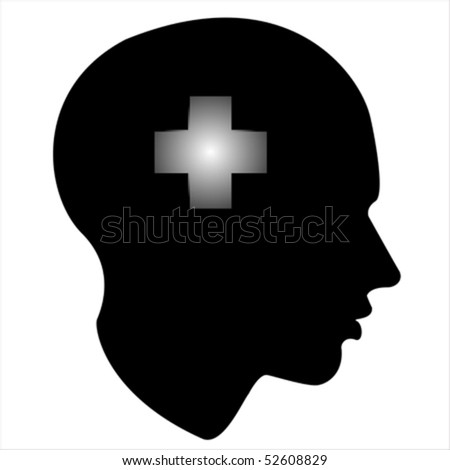 help of the human mind Isolated over background and groups, vector illustration