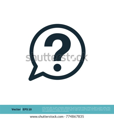 Help Sign Icon Vector Logo Template