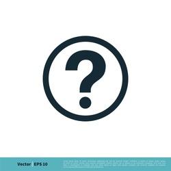 Help Sign Icon Vector Logo Template Illustration Design. Vector EPS 10.