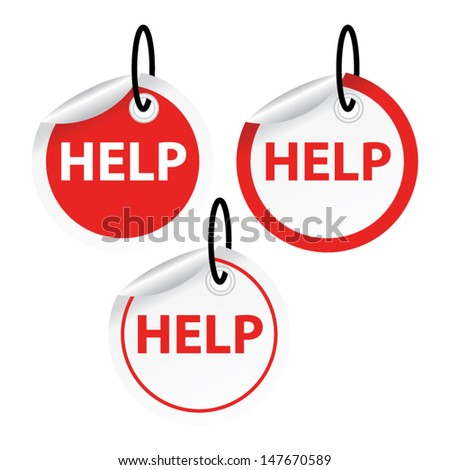 help  tags vector