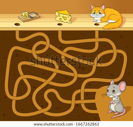 help the cute mouse find the