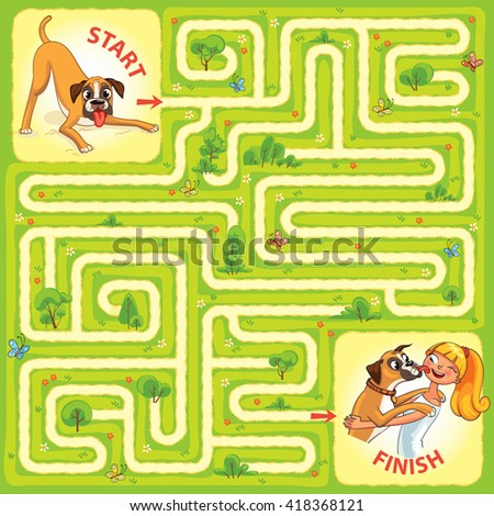 help the dog to find the right