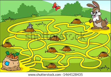 help the hare to find his way