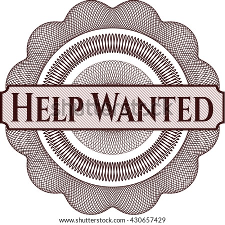 Help Wanted rosette