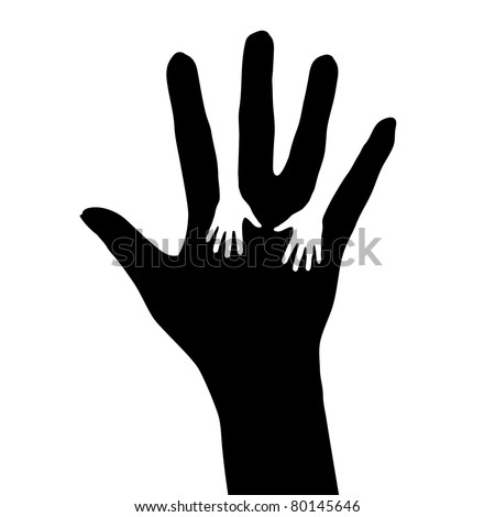 Helping hand. Illustration on white background for design