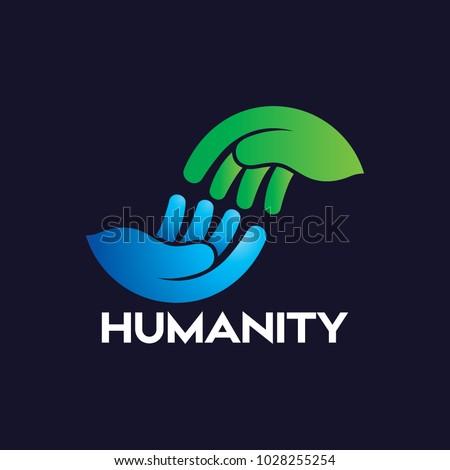 Helping Hand Logo Icon vector