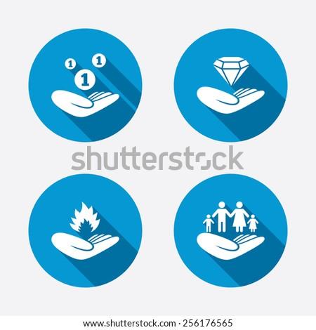 Money Sign on Fire Diamond Brilliant Sign Fire
